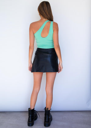 Nora Asymmetrical Crop - Spearmint