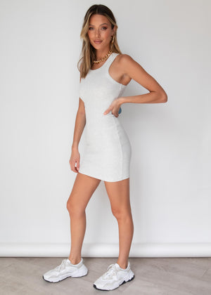 Polly Mini Dress - Grey Marle