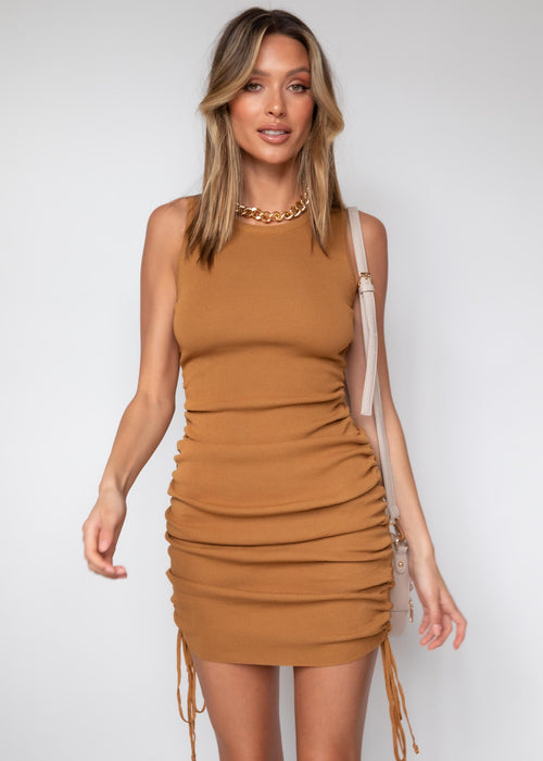 Keelee Knit Dress - Camel