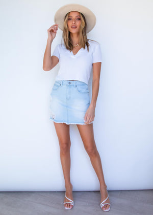 Ambika Crop Polo - White