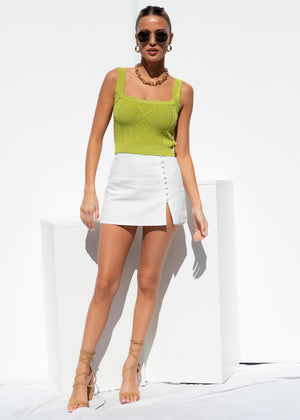 Whistler Knit Crop - Lime