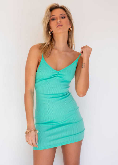 Piece of me Knit Dress - Spearmint
