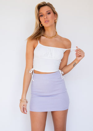 Cece Ruched Crop - White