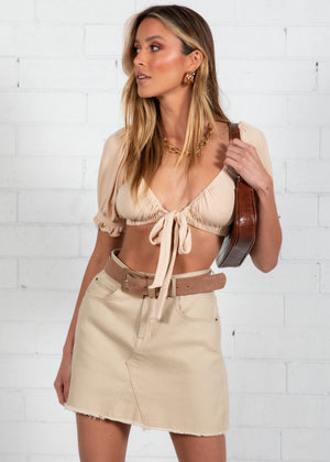 Bella Crop - Beige