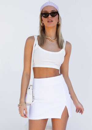 Nikki Crop - White