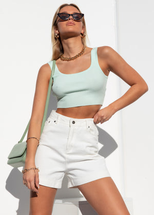 Carina Knit Crop - Mint