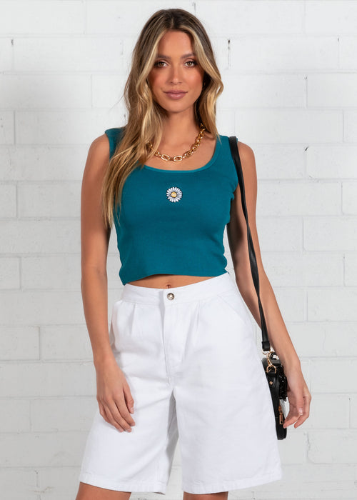 Britney Knit Top - Teal
