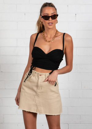 Sienna Crop - Black
