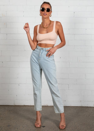 Camré Crop - Peach