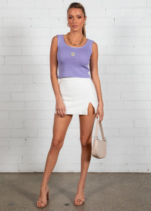 Britney Knit Top - Lilac