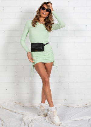 Kaylyn Ruched Mini Dress - Mint