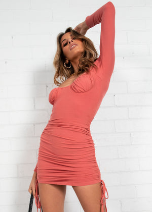 Fifi Mini Dress - Coral