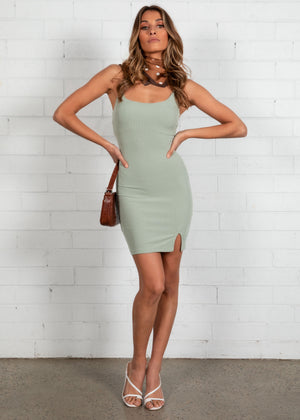 Electra Mini Dress - Khaki