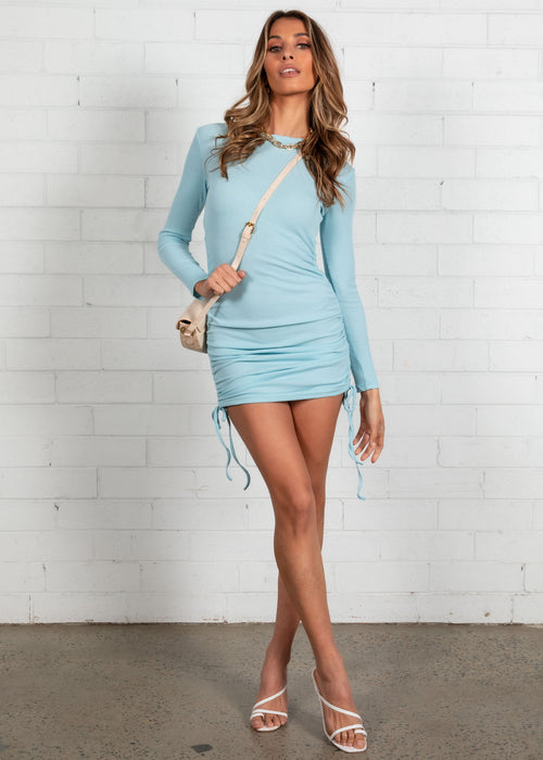 After Party Mini Dress - Light Blue