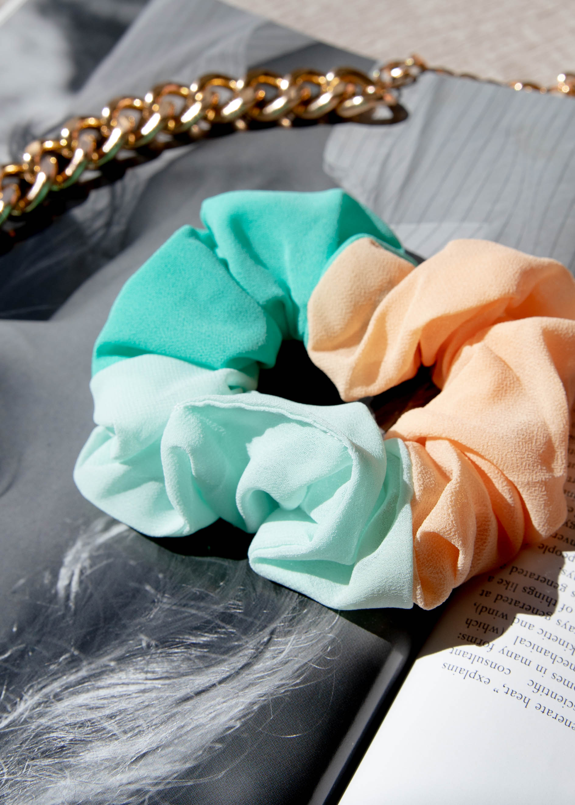 Winsley Scrunchie - Mint/Peach