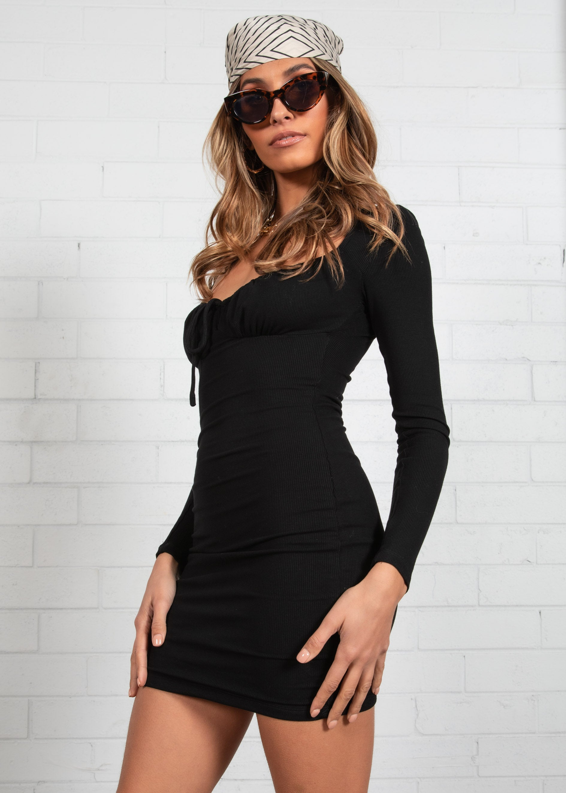 Sia Mini Dress - Black
