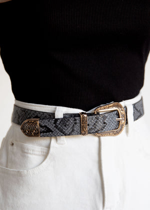Miann Belt - Grey Snake