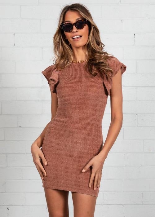 Rule The World Knit Dress - Mocha