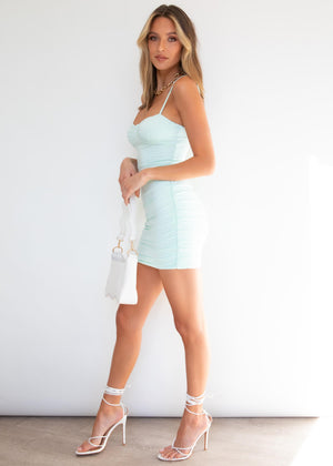 Most Amused Ruched Dress - Mint