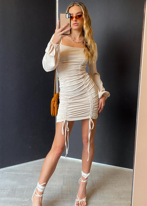 Let's get it Dress - Nude