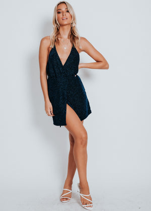 Turn Heads Mini Dress - Navy