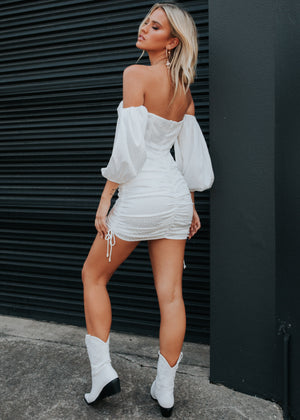 Centaur Mini Dress - White Spot