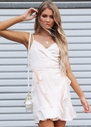 Sweet Nothing Mini Dress - Soft Pink Leopard