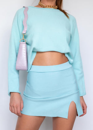 Marni Knit Mini Skirt  - Aqua