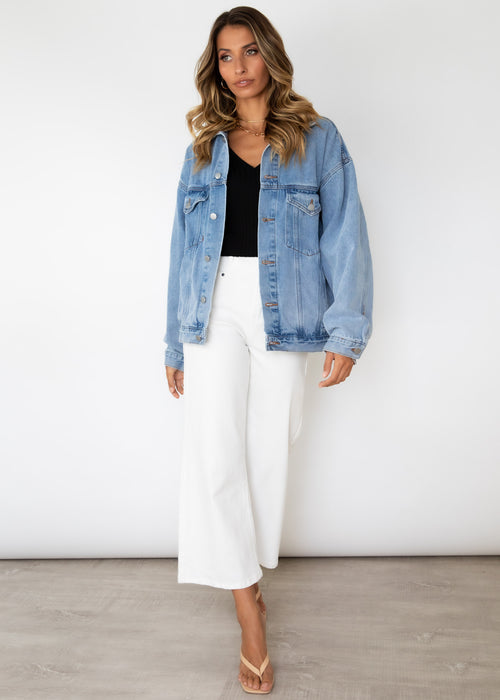 Sitting Pretty Denim Jacket - Blue