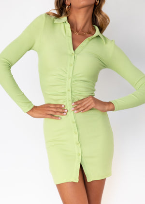 Dont Rush It Knit Dress - Lime