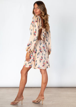 Kimberly Midi Dress - Champagne Floral