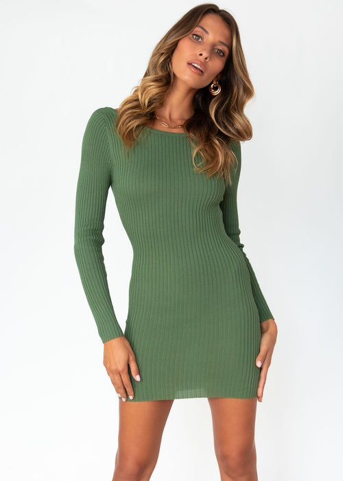 Bold Moment Knit Dress - Khaki