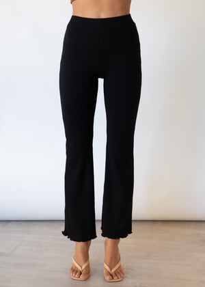 Mayben Knit Pants - Black