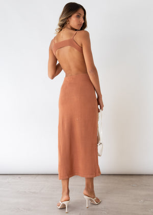 Paramount Cut Out Midi Dress - Tan