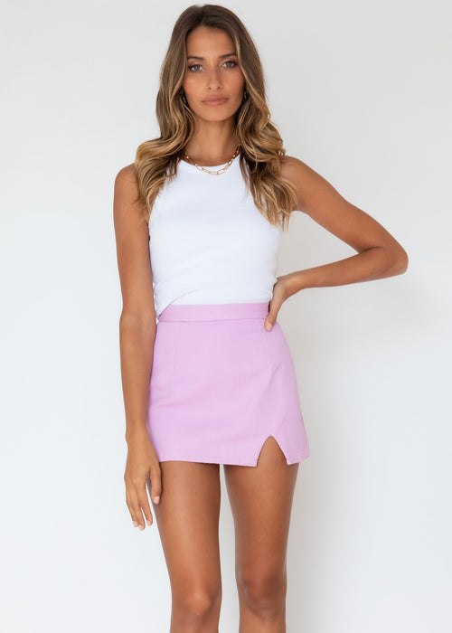 Forbidden Love Mini Skirt - Lilac