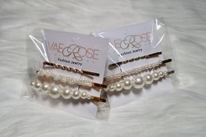 Twisted Gold & Pearl Set