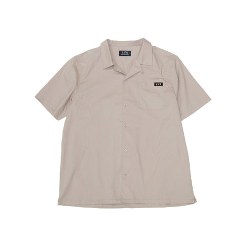 """Green Logo"" Open Collar Shirt"