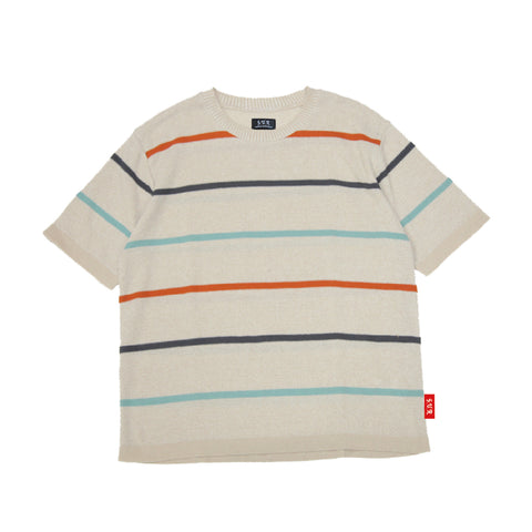 """Border"" Knit T-Shirt"