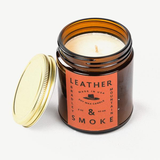 Leather & Smoke (Amber Series Candle)