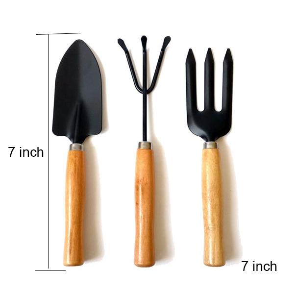 541 Small sized Hand Cultivator, Small Trowel, Garden Fork (Set of 3)