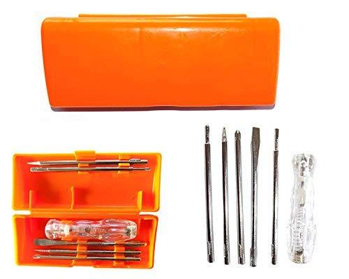 Stainless Steel Professional 5 In 1 Multi-Function Screwdriver Kit (Multicolour)