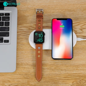 COTEetCI 2IN1 Wireless Fast Charger Wireless Charging Pad