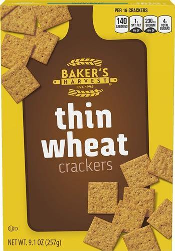 Baker's Harvest Thin Wheat Crackers - 9.1 oz - Darn Cheap Discounts