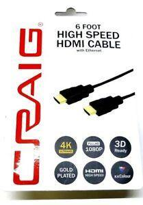 Craig HDMI High Speed Cable with Ethernet 6 Feet - Darn Cheap Discounts