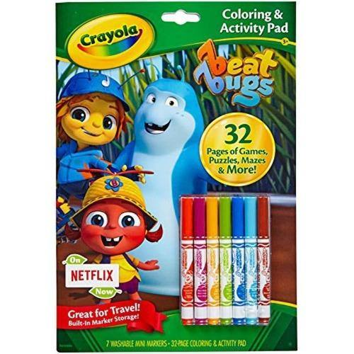 Crayola Coloring & Activity Pad with Markers - Beat Bugs - Darn Cheap Discounts