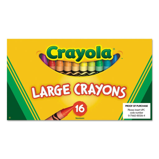 Crayola Large Crayons - 16 ct - Darn Cheap Discounts