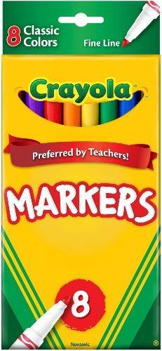 Crayola Markers Fine Point - Classic Colors - 8 ct - Darn Cheap Discounts