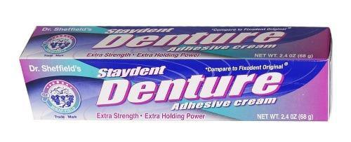 Dr. Sheffield's Staydent Denture Adhesive Cream - 2.4oz - Darn Cheap Discounts