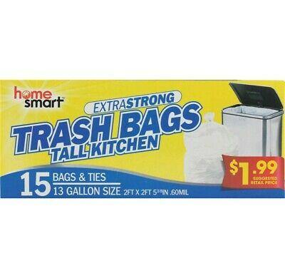Home Smart 13 Gallon Tall Kitchen Trash Bags - 15 ct - Darn Cheap Discounts