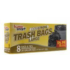Home Smart 30 Gallon Large Trash Bags - 8 ct - Darn Cheap Discounts